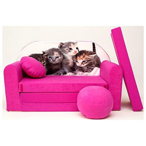 H6 + un bébé pour enfants Mini Canapé bébé Canapé lit Pouf Lot de 3 en 1 d'oreillers en mousse