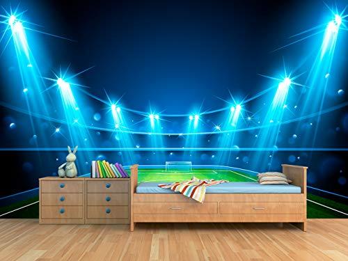 Oedim Vinilo para Pared Habitación Niño Campo de Fútbol | Fotomural para Paredes | Mural | Vinilo Decorativo | 200 x 150 cm | Decoración comedores, Salones, Habitaciones
