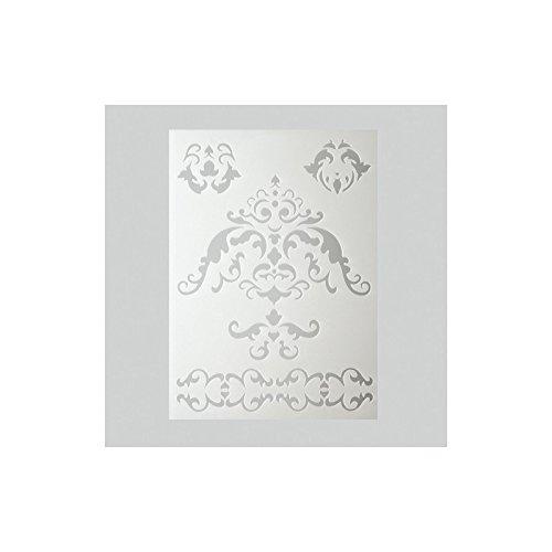 efco Ornamentschablone in 5Designs, Kunststoff, transparent, A5