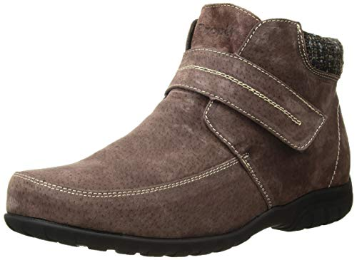 Propet Women's Delaney Strap Ankle Boot, Brown Suede, 6 Wide
