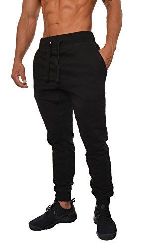 YoungLA Mens Slim Fit Joggers Fitness Sweatpants Gym Training 204 Black Medium
