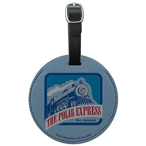 The Polar Express All Aboard Round Leder-Koffer, für Gepäck, Kartenausweis