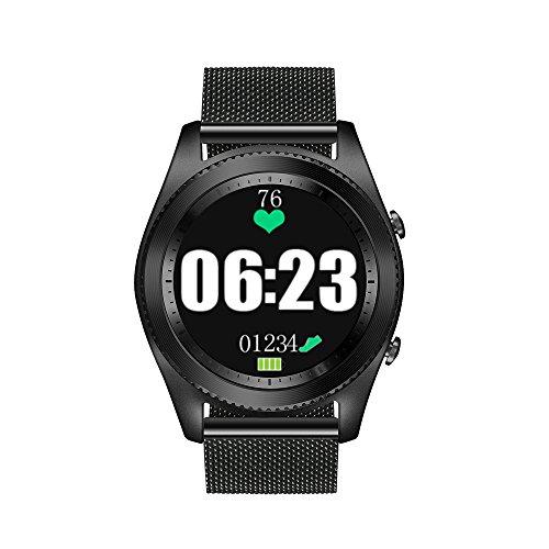 Docooler NO.1 S9 NFC Frecuencia Cardíaca Smart BT Reloj Deportivo Seguidor de Salud Notificación de llamada Anti Perdidos Monitor de Sueño para iOS de Android