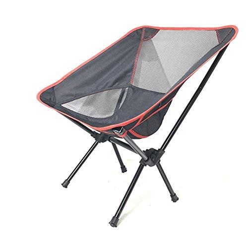 YANJ Silla Plegable Exterior: Capacidad de 100 kg para Trabajo Pesado,Silla portátil para Exteriores,para Actividades al Aire Libre (Naranja)