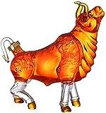 WFDC Decantador de Whisky Animal con Forma de Vaca Estilo Novedad Inicio Bar Vino Decantador para Licor Scotch Bourbon Fácil Uso Limpio 821 (Color : 250 ml)