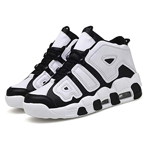 High-top Sneakers for Men 2019 Newest Casual Fashion Round Toe Comfortable Canvas Shoes Flat Ankle Boot (US:9.5, Black 2)
