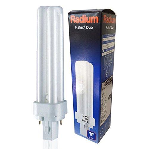 RADIUM Kompaktleuchtstofflampe, G24d-1, 13 W
