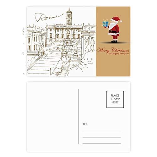 Fontana di Trevi Rom Fontana Wahrzeichen Santa Claus Postkarten-Set Dankeskarten 20 Stück