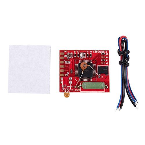 Andifany Tablero Rojo RGH Glitcher con Oscilador de Cristal 96Mhz X360Run V1.1 para 360 Slim
