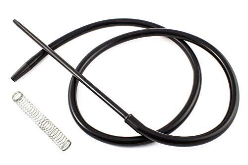 Manguera para cachimba shisha - Incluye muelle y boquilla de materiales premium con acabados excepcionales (Negro)