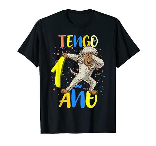 Tengo 1 Año 1º Caniche de Juguete Cumpleaños Camiseta