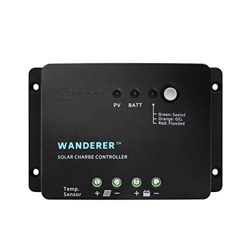 Renogy Wanderer 30 Amp 12V Advanced PWM Negative Ground Solar Charge Controller...