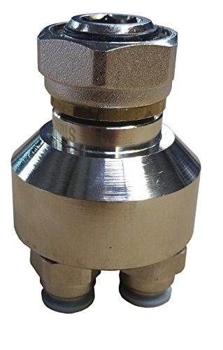 Jollytherm 10095 Aquaheat Verteilerfinger für Doppelrohr Warmwasser Fußbodenheizungen