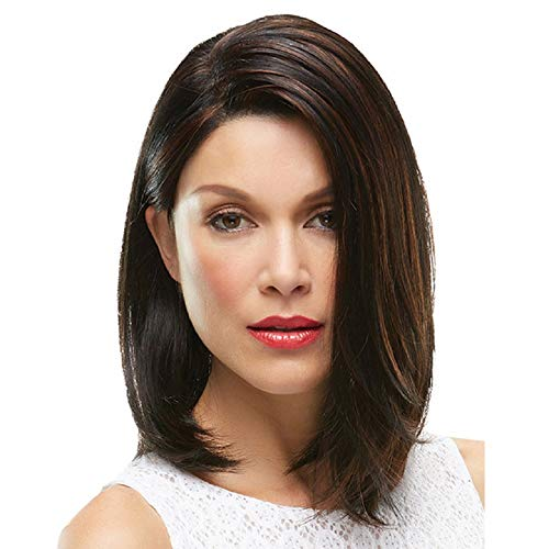 BenU Wigs for Womens Straight Wig Girls Front Lace Wig Ladys Bob Head Black and Brown