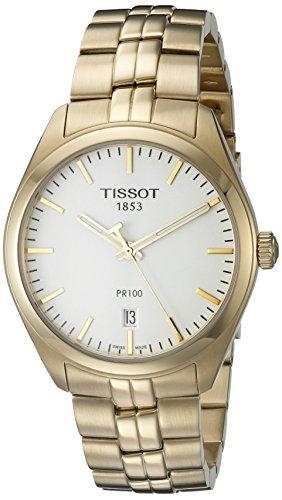Tissot Herren-Uhren Analog Quarz One Size Gold/Silber 32001152