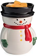 CANDLE WARMERS ETC. Illumination Fragrance Warmer- Light-Up Warmer for Warming Scented Candle Wax Melts and Tarts or Essential Oils to Freshen Room, Frosty