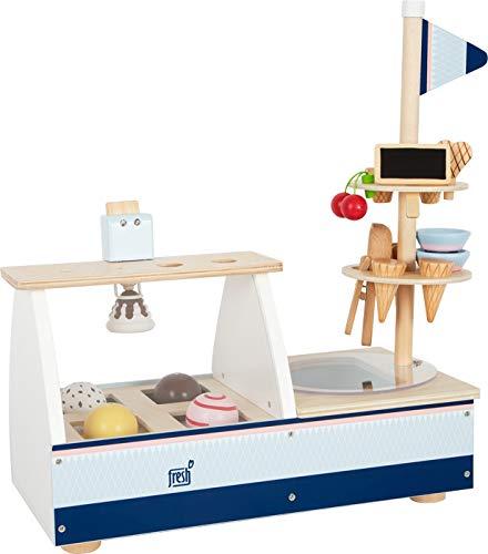 Small Foot 11815 Eistheke Fresh aus Holz, Zubehör für Kinderküche und Kaufladen, Rollenspielzeug für Kinder ab 3 Jahre Toys
