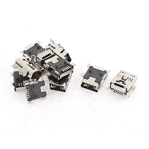Aexit 10pcs Mini Alimentation et accessoires USB type B femelle 5bornes à souder Socket Adaptateurs pour l'international connecteur Port