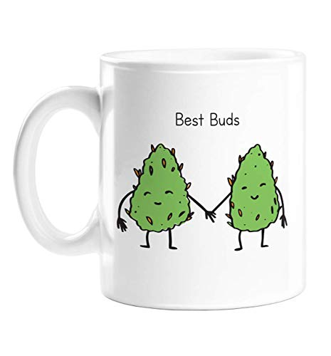 Best Buds Mug | Funny Stoner Gift, Funny BFF Weed Smokers Gift, Cannabis Gift, Marijuana Gift, Funny Mug for Pot Head Friends