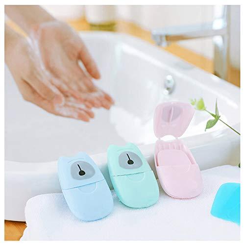 AEF Einweg Seifentabletten 15 Stück, Tragbare Seifenkiste Handwäsche-Seifenblätter Reinigung Mini-Scheibenblätter Blätter Für Küche, Toilette, Außenbereich