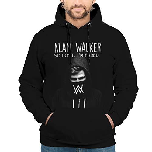 Alan a Walker - Felpa da donna a maniche lunghe, unisex, con cappuccio e tasche con coulisse bianco L