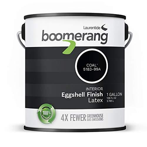 Boomerang Eco-Friendly Interior Paint, Eggshell Finish (Coal)