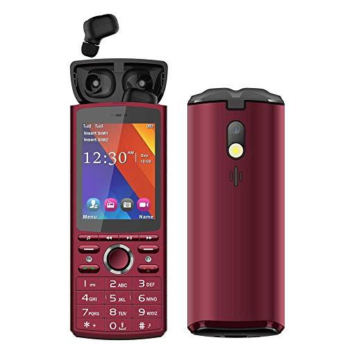 Teléfonos móviles para personas mayores, teléfonos móviles con auriculares Bluetooth, teléfonos con tonos táctiles, teléfonos con barra, teléfonos móviles de pantalla grande adecuados para personas m