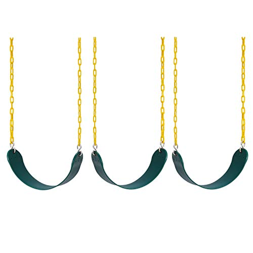 Lovely Snail Heavy Duty Swing Seat 3 Pack with Coated Swing Chains Fully Assembled  Swing Set Swings Seat Replacement Outdoor Playground Backyard