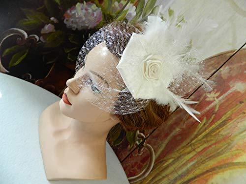 Braut Fascinator Haarschmuck Ivory Brautschmuck Brauthut Gesteck Hochsteckfrisur