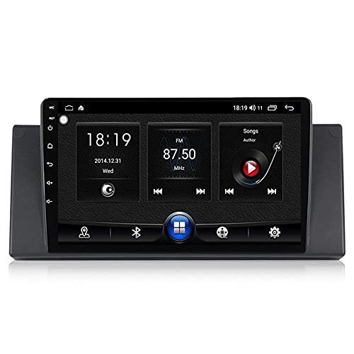 KLL Androide 10 Radio de Coche 2 DIN para BMW E53 1080P HD Pantalla Táctil Reproductor Bluetooth MP5 Carplay Incorporado Enlace Espejo