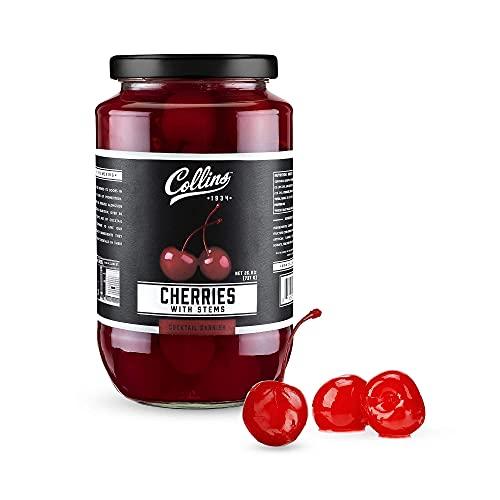 Collins Stemmed Maraschino Cocktail Cherries  ...