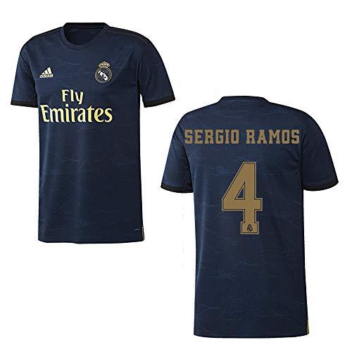 adidas REAL Madrid Trikot Away Herren 2020 - Sergio Ramos 4, Größe:L