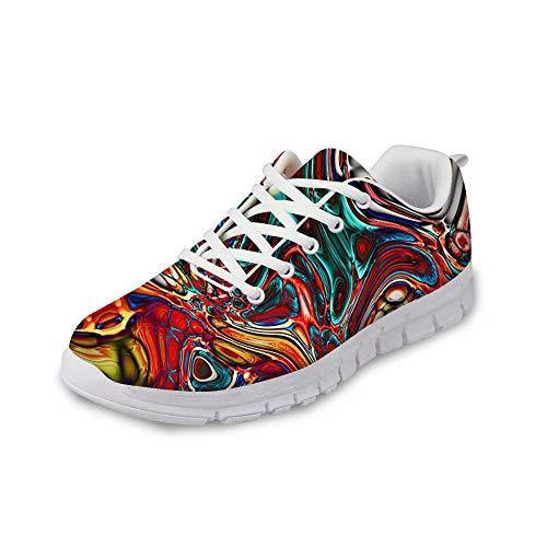MODEGA schillernde Schuhturnschuhe Bunte Schuhe für Männer billige Schuhe Männer Schnürsenkel für Schuhe billig Design Turnschuhe Design Turnschuhe für Frauen Bowling-Turns Größe 44 EU|9 UK