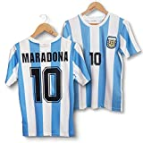 Direct Sport – Camiseta de Maradona Argentina 86 retro – Replica (XL)