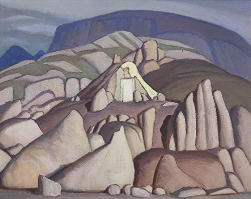 Lawren Harris Giclee Auf Leinwand drucken-Berühmte Gemälde Kunst Poster-Reproduktion Wand Dekoration(Lawren Stewart Eskimo Harris Zelt Pangning Baffin Island Ii) Große größe 99.1 x 78.7cm #EDFB