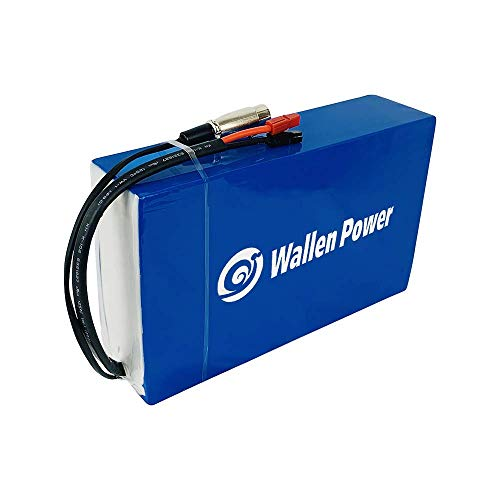 Wallen Power 36V 15Ah Ebike Akku Lithium Batterie Ebike Batterie Elektrofahrrad Akku Lithium Li-Ion PVC E-Bike Akku für 500W 250W 200W Motor