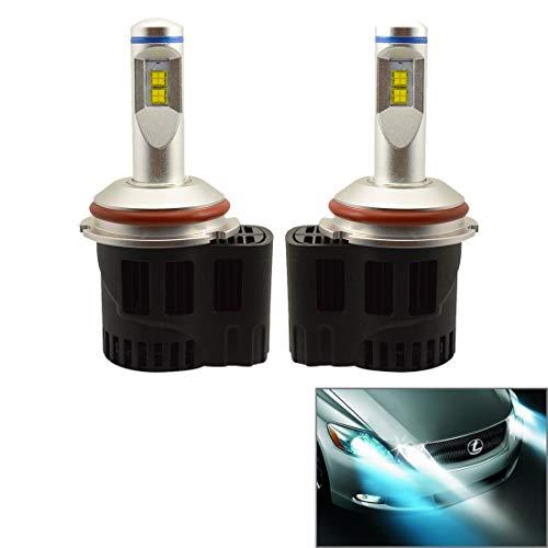 Konglz ZY-9004 Led-hoofdlamp, 2 stuks, 9007JGDP6-55 W, Philips MZ 5200LM 6000 K Car Light Head LED, wit met drivers, DC 11-30 V LED-hoofdlamp