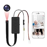 """【WLAN Mini Kamera】Die Mini-Größe WiFi-Mini-Kamera bieten eine neue intelligente Leben für Sie; einfachere WiFi-Verbindung von """"TuyaSmart"""" APP unterstützt sehen Live-Videos auf dem mobilen Gerät nach Abschluss der Konfiguration; intelligente Bewegungs..."""