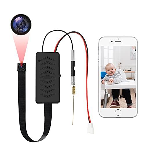 LXMIMI Mini Telecamera WiFi, 1080P HD Micro Telecamera WiFi con Visione Notturna in Condizioni di Scarsa Illuminazione e Rilevamento del Movimento