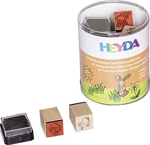 Heyda 204888484 Heyda 204888484 Stempel-Dose (Frühling) Motivgröße: ca. 1,5 x 1,5 cm