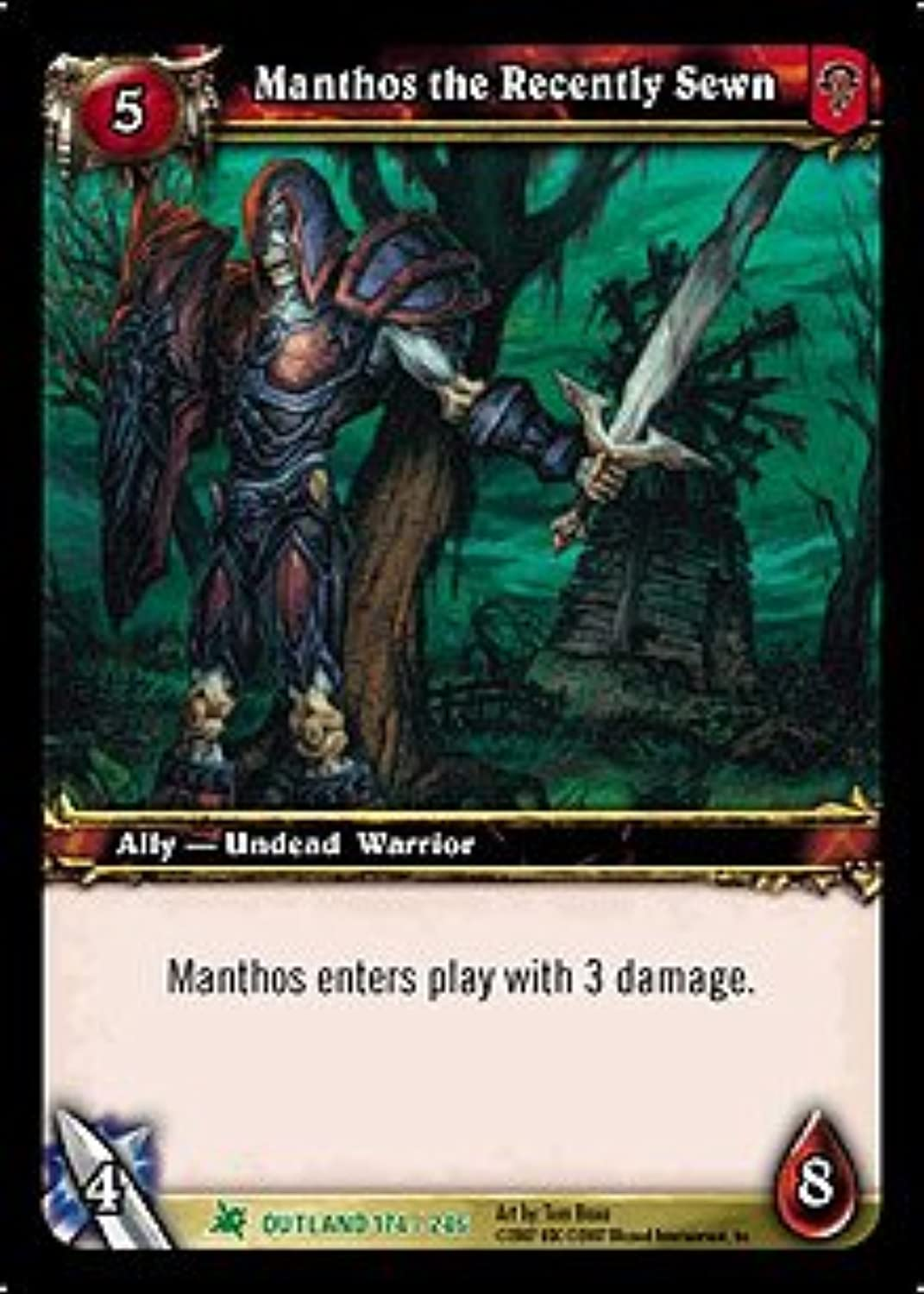 Manthos the Recently Sewn - Fires of Outland - Uncommon [Toy]