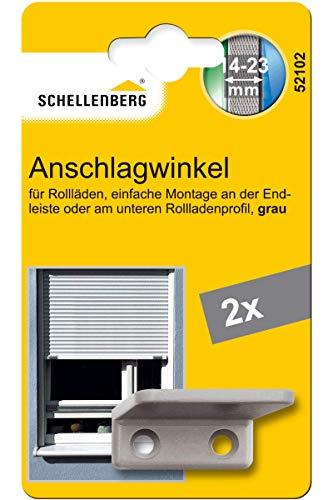 Schellenberg 52102 Aanslaghoek voor rolluiken, grijs
