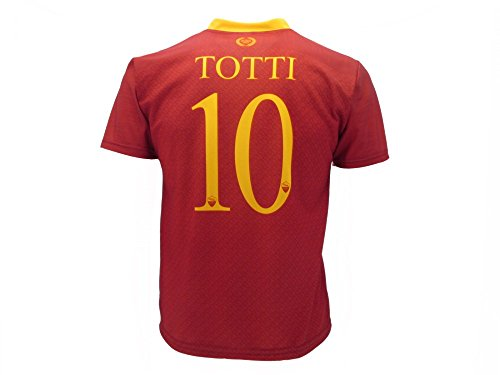 AS Roma Trikot Totti Roma 2019 Offizielle Jahreszeit 2018/2019 Replik Frankesco Totti Nummer 10 (4 Jahre)