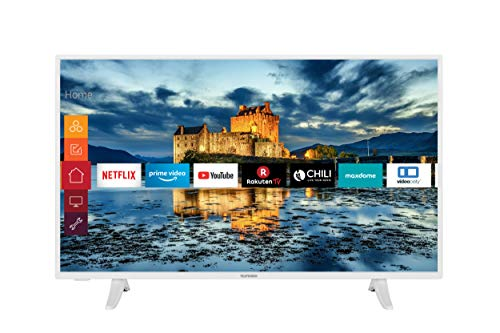 Telefunken XF43J511-W 43 Zoll Fernseher (Smart TV, Prime Video / Netflix / YouTube, Full HD, Works with Alexa, Triple-Tuner) [Modelljahr 2021]