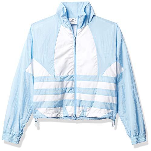 adidas Originals Damen-Trainingsjacke mit großem Logo - Blau - Small