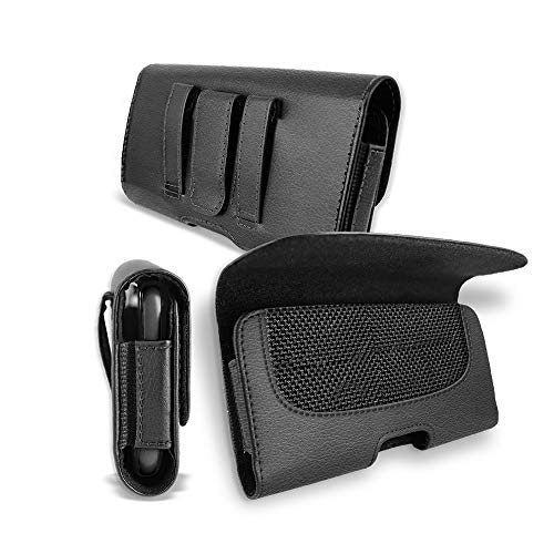 for Samsung Galaxy S8 Plus Case, T MAN [ XL Size] [Belt Holster] Sideways Horizontal Leather Holster Carry Pouch Case for Samsung Galaxy S8 Plus (Fits The Phone with Thick Protective Cover on)