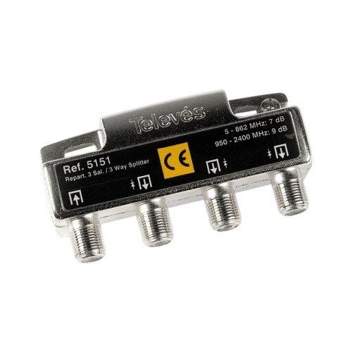 Repartidor Distribuidor 3 Salidas 7/9 dB, Cablepelado®