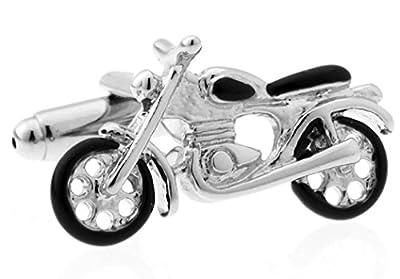 MRCUFF Presentation Gift Box Motorcycle Bike Street Cruiser Pair Cufflinks & Polishing Cloth