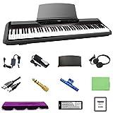 トモイ TOMOI 電子ピアノ 88鍵盤 ハンマーアクション鍵盤 本物ピアノと同じストローク MIDI ダンパーペダル 譜面台 イヤホン ピアノカバー 鍵盤シール ピアノクロス 楽譜クリップ ステレオミニプラグ USBケーブル付属 1年保証 ブラック