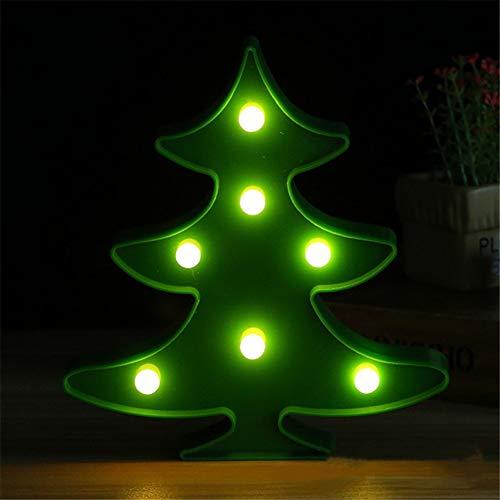 XHSHLID Kerstboomvorm, LED, nachtlampje, decoratie, verlichting voor wandplank, kantoor, party, slaapkamer, baby, leuk cadeau voor kinderen
